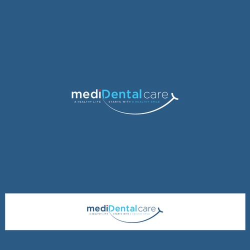 Simple text based logo for mediDental Care