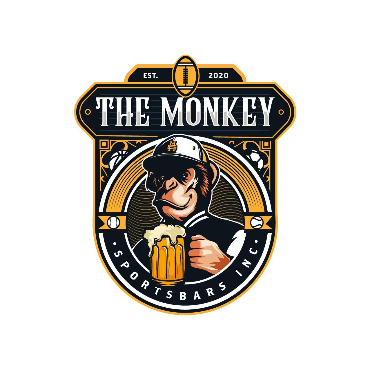 "Epic logo for ""The Monkey Sportsbars Inc"""