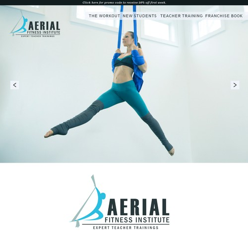 Aerial Fitness Bold logo