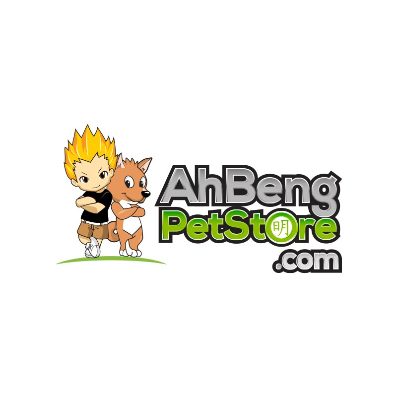 Funky, Simple Online Pet Store Logo incorporating 2 mascots