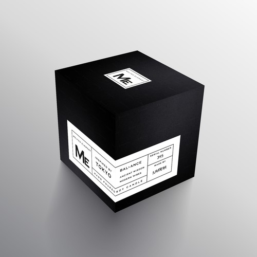 Minimal Package Design for Hand-Poured Soy Candle