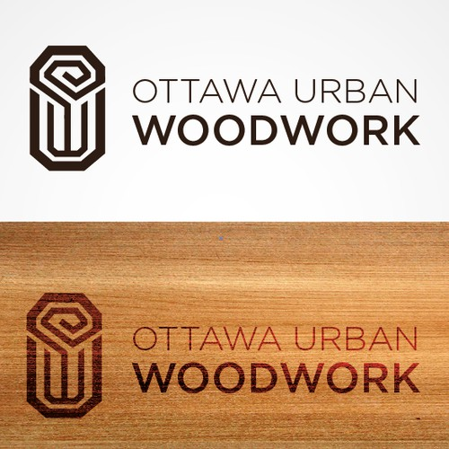 A hip logo for a small carpentry company.