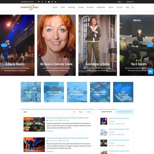Marketing Wordpress Website Design