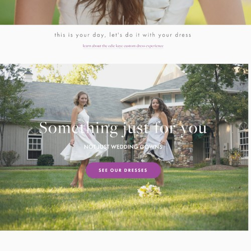 Squarespace website for Custom Wedding Gown Maker