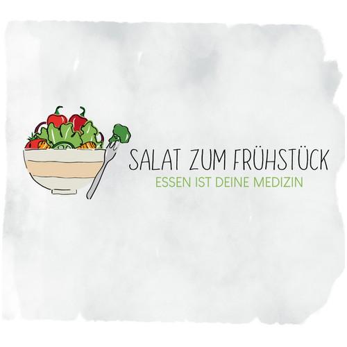 Illustrativer Logoentwurf für einen Foodblog