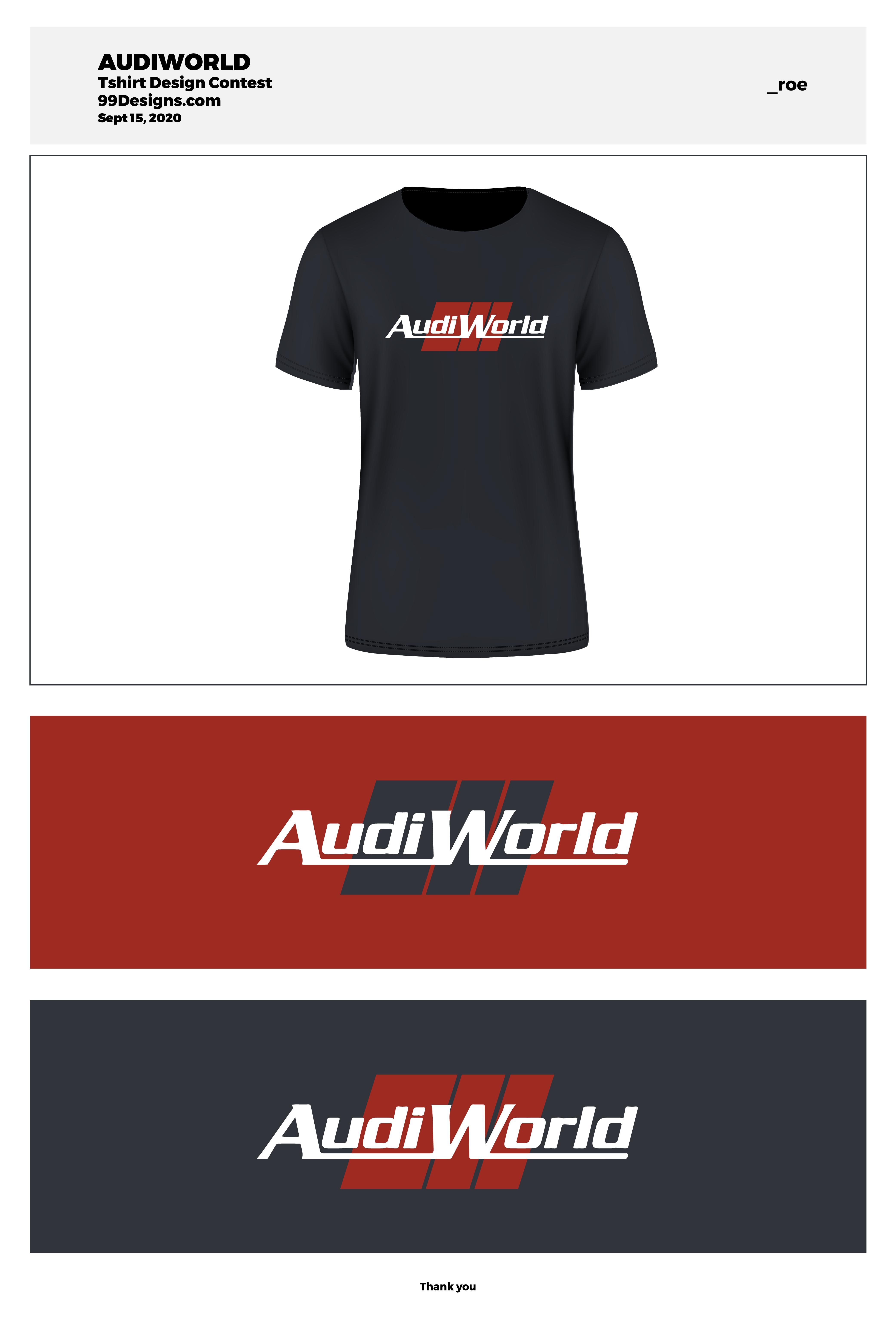 AudiWorld Premium Membership T-Shirt Contest