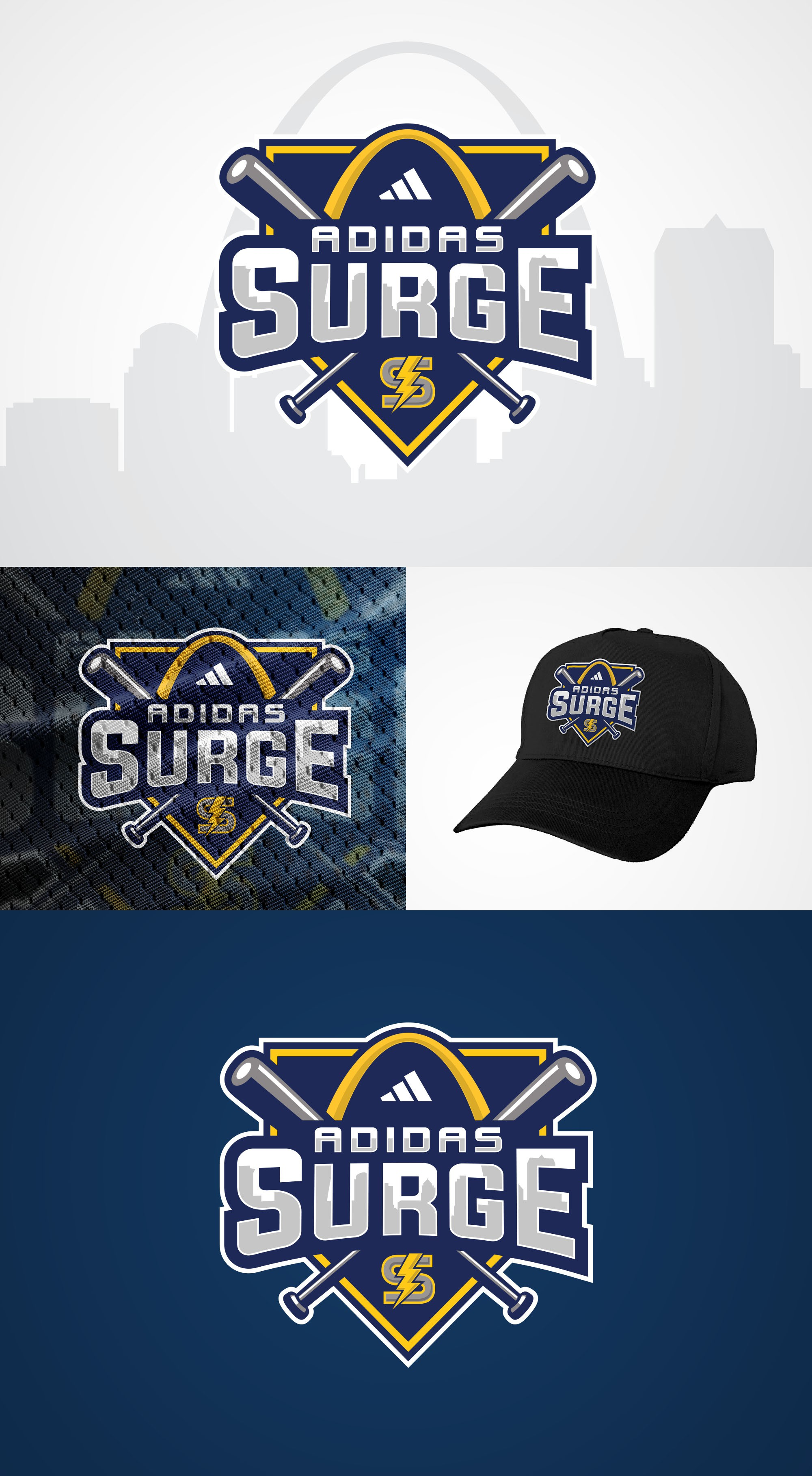 Baseball team sponsored by adidas so include adidas logo as well as ours.  Please include a logo that we can put on hats