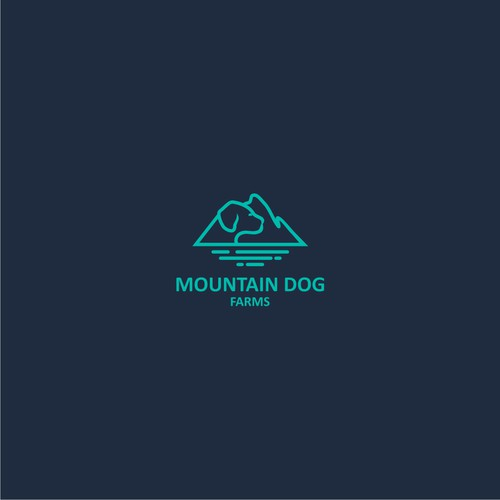 Sophisticated logo Mountain Dog Farms