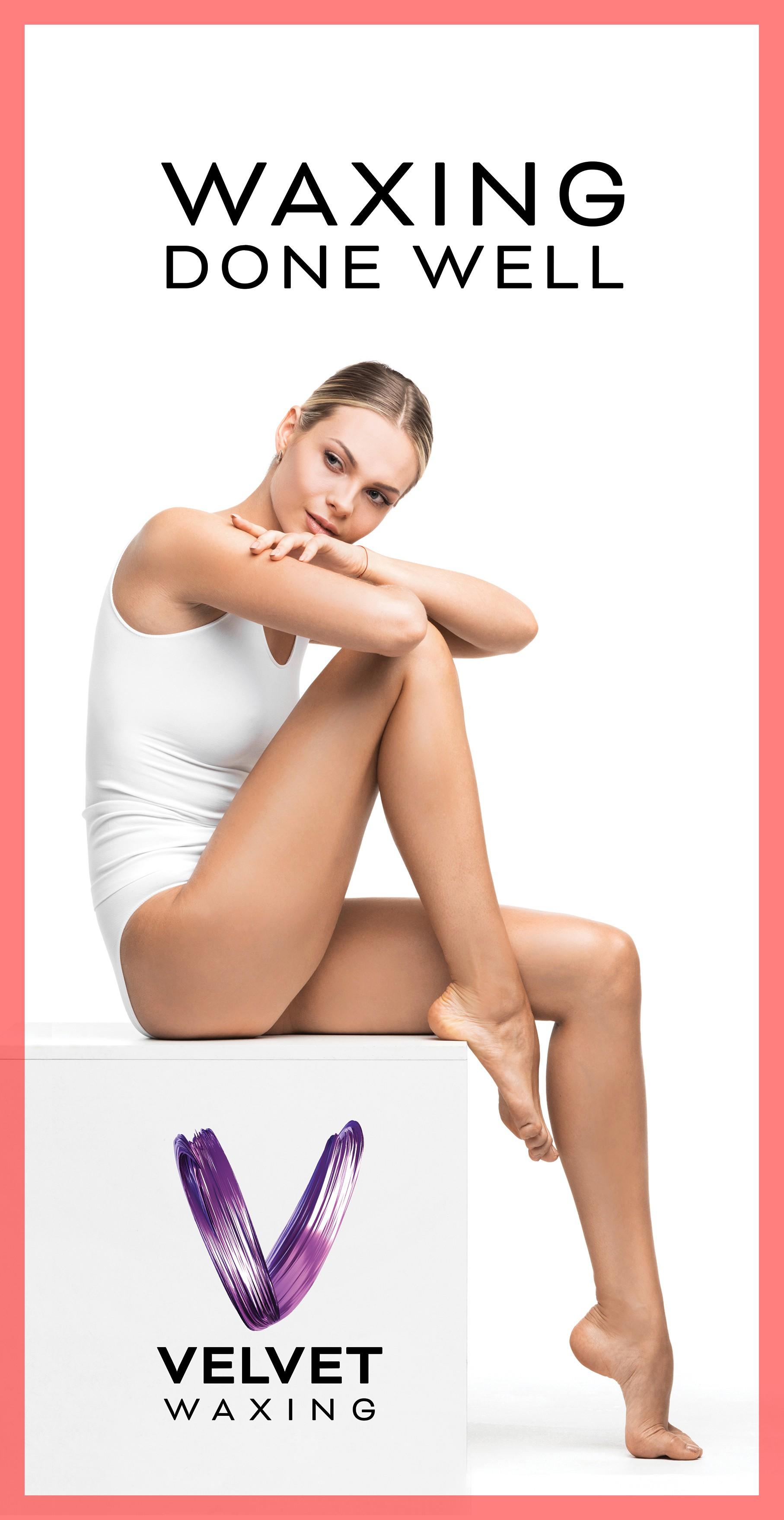 Design girly/minimalistic waxing salon signs for salon Velvet