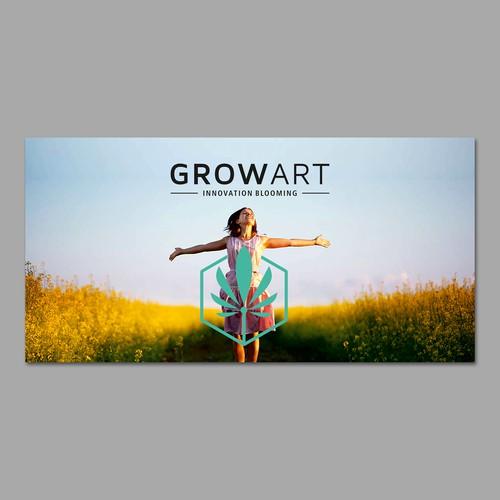 GrowArt Banner Design