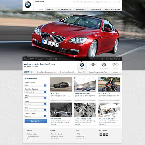 Website for authorized BMW dealer
