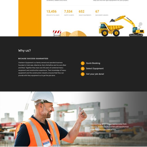 Home Page for Heavy Equipment Services