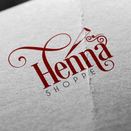 Create a modern logo for a centuries old traditional art form for The Henna Shoppe