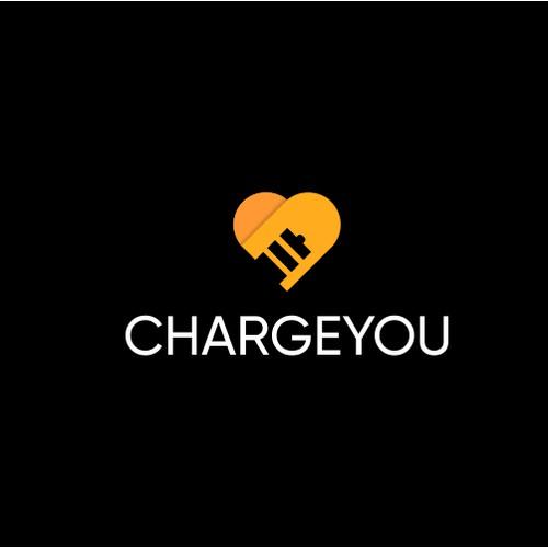 battery and heart love logo design