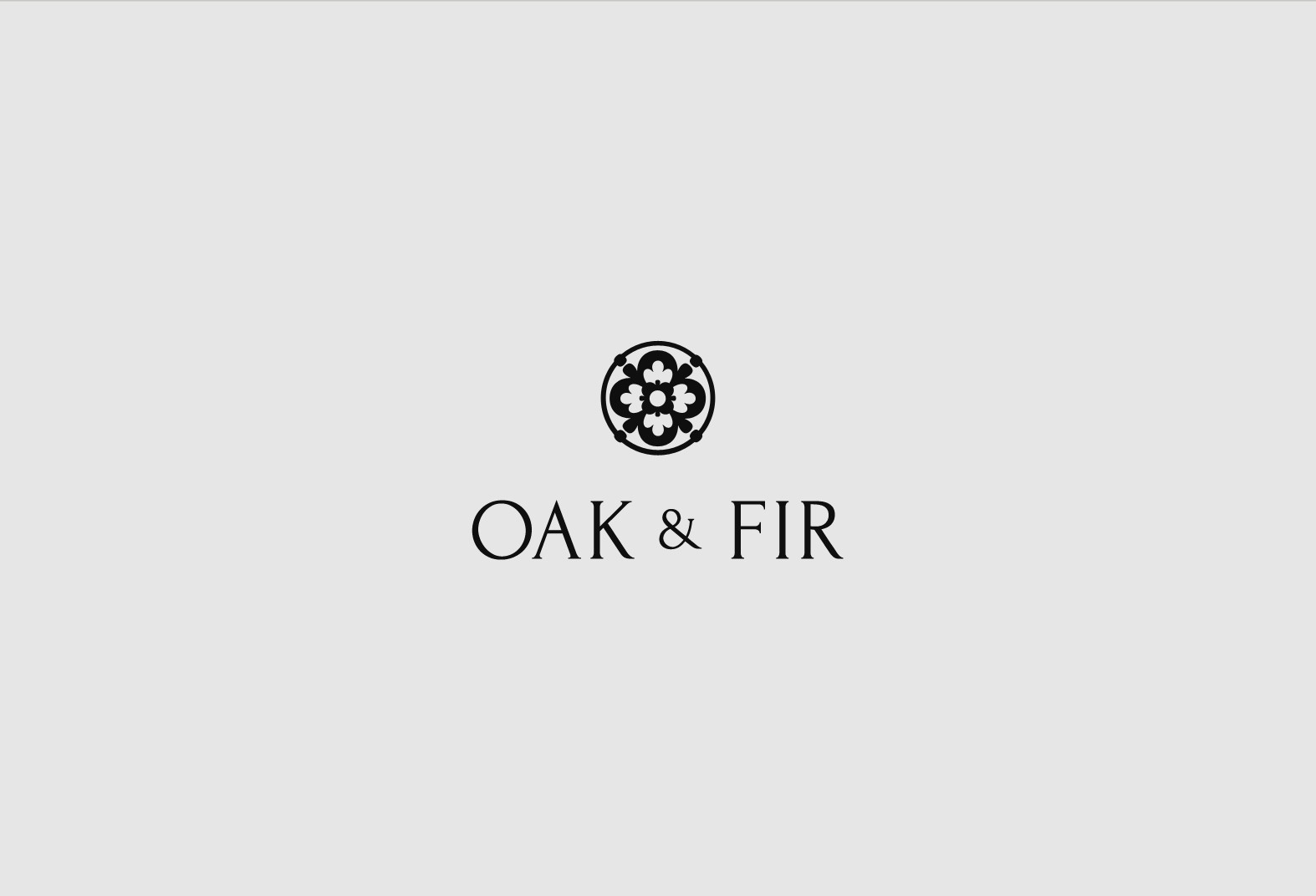 Sophicated logo for handmade leather company Oak & Fir