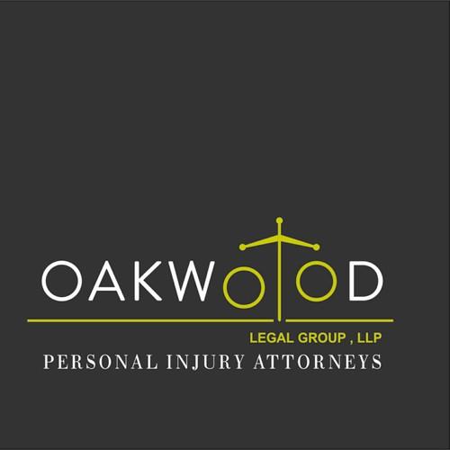 Sleek logo for Oakwood law firm
