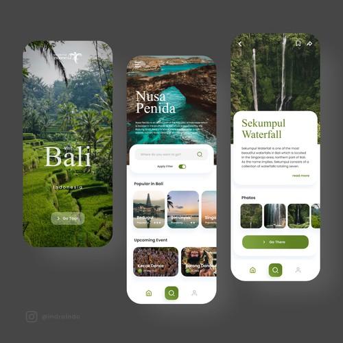 Bali Tourism App Design