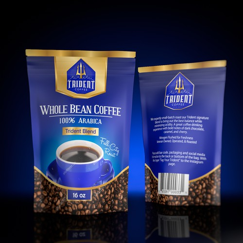 Beautiful package for Whole Bean Coffee