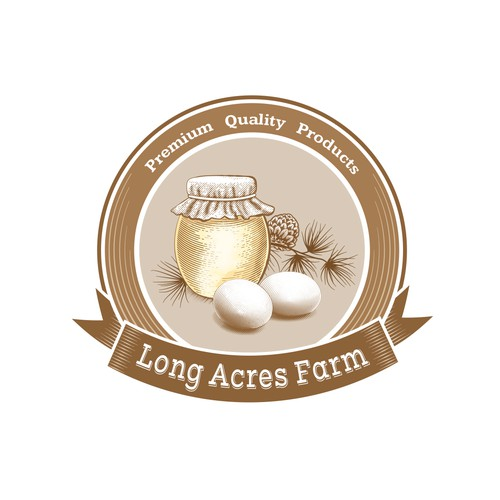 Family farm's graphic brand label