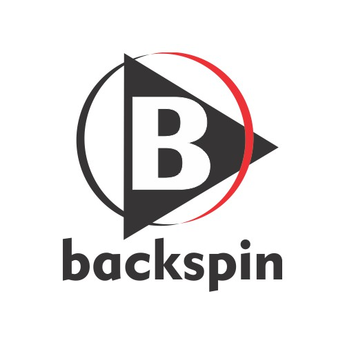 "Logo Concept for Mobile Music App Called ""backspin"""