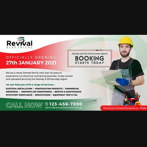 Web flyer/banner ad design.
