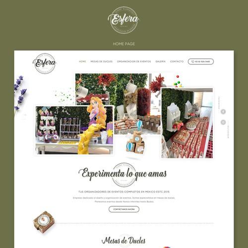 Event organizer Web Site
