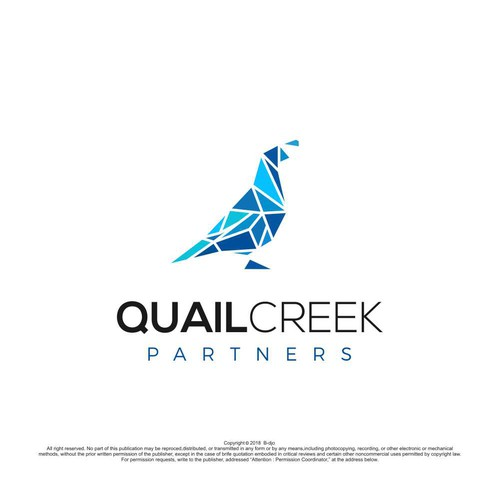 abstract logo for quailcreek