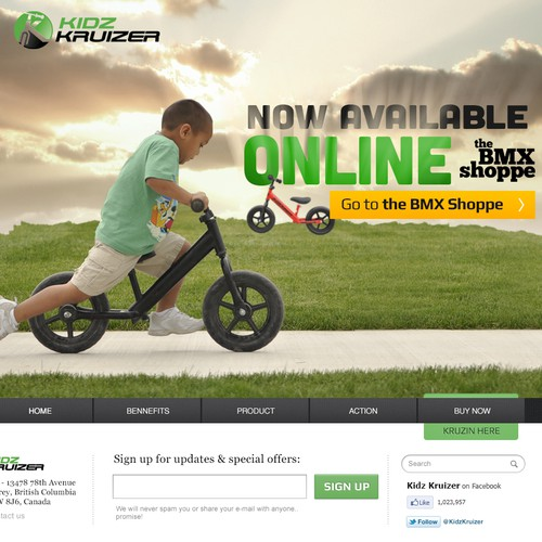New website design wanted for Kidz Kruizer