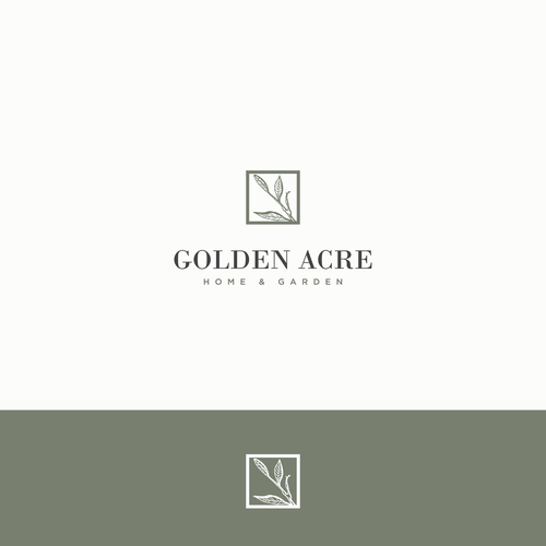 Logo design for Golden Acre