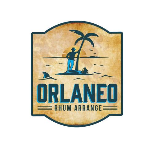 Custom drawing logo for rum branding