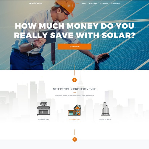 Bold clean mininal concept for an solar energy company