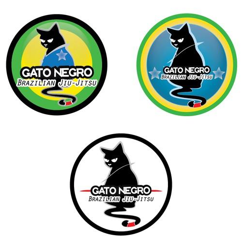 Brazilian Jiu-Jitsu team logo Gato Negro!