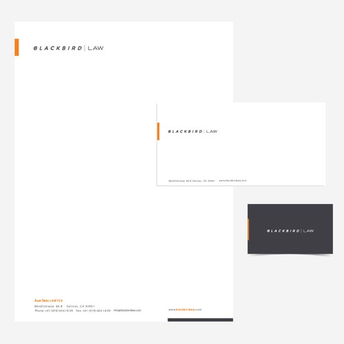 Modern Law Firm needs streamlined letterhead