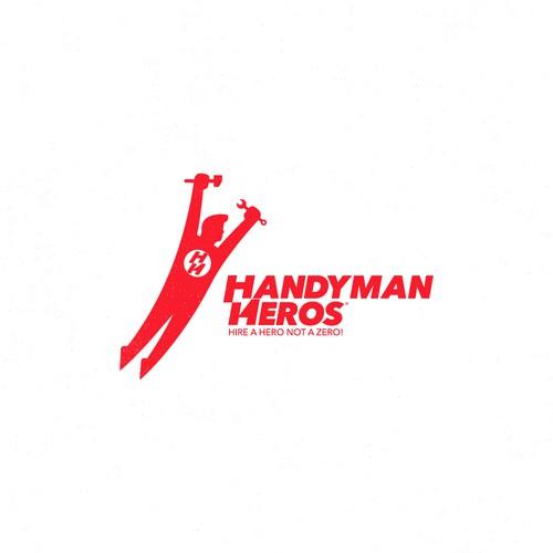 Handyman Hero logo design HH
