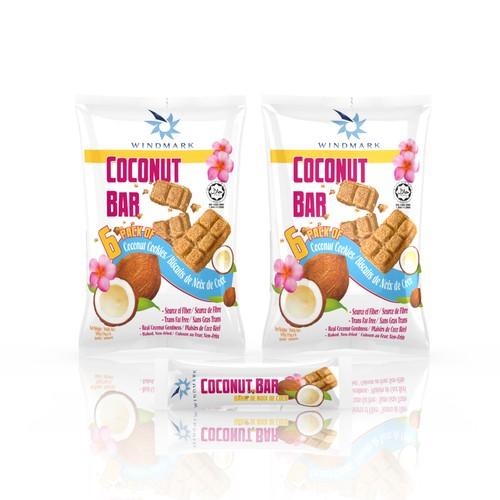 Bagdesign for cereal coconut bar