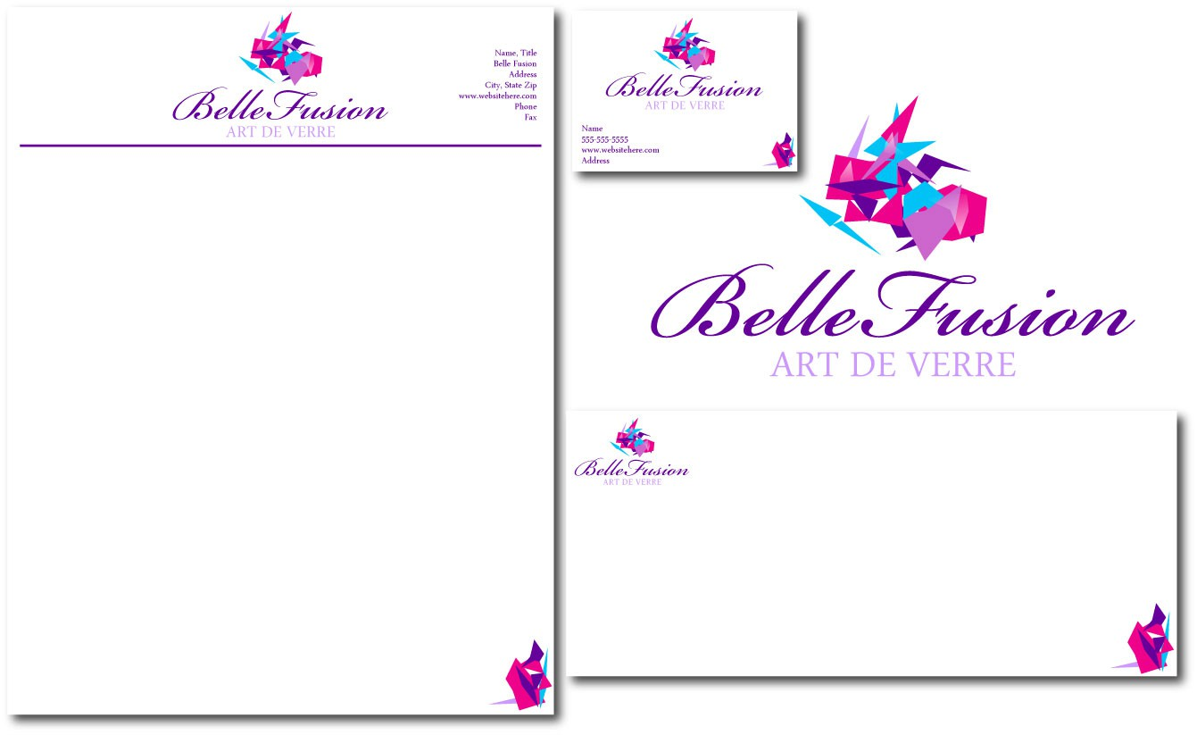 Logo for designer of glass jewellery and artistic glass pieces