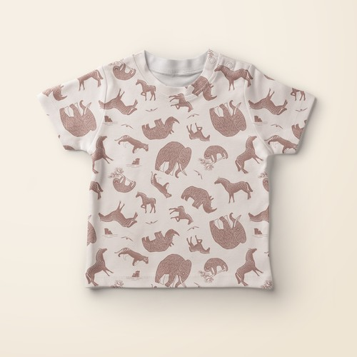 Kids ice age themed pattern