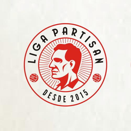 Create a logo for the new world of football: Liga Partisan