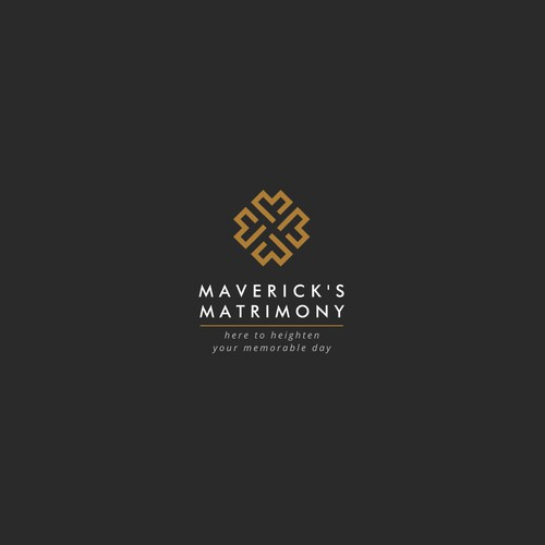 Simple Monogram Logo Concept for Maverick's Matrimony