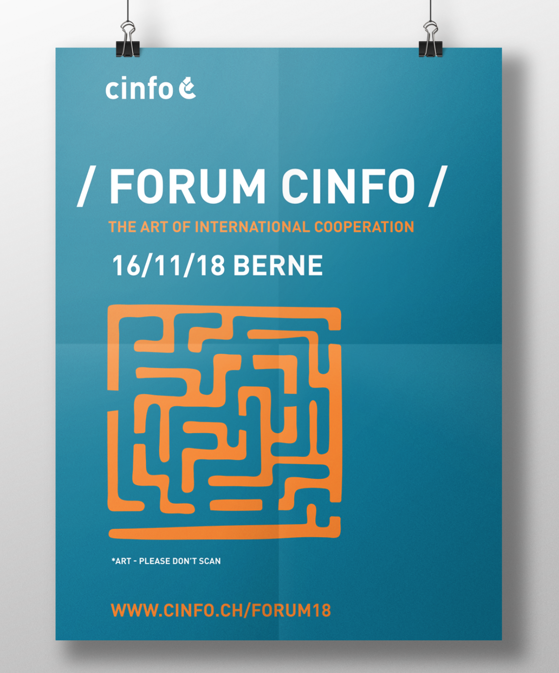 Design a poster for Forum cinfo - The Art of International Cooperation