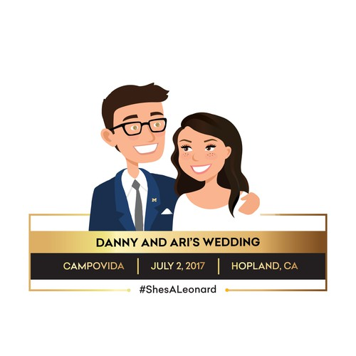 Custom snapchat geo-filter for Danny and Ari's wedding