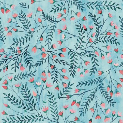Handpainted flower pattern
