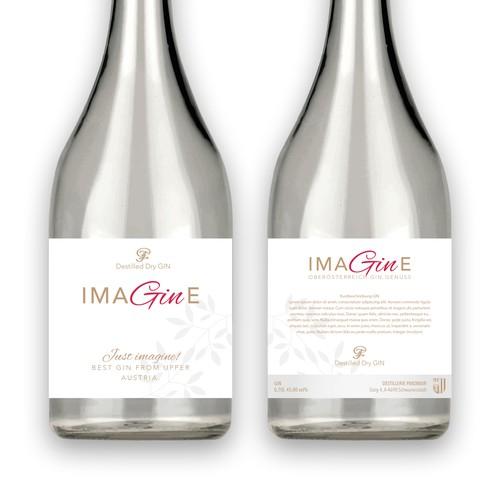 Etikett für Gin