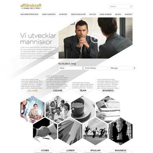Affarskraft webdesign