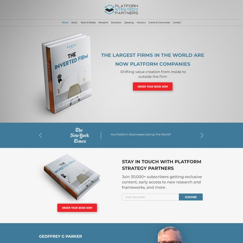 Book website design
