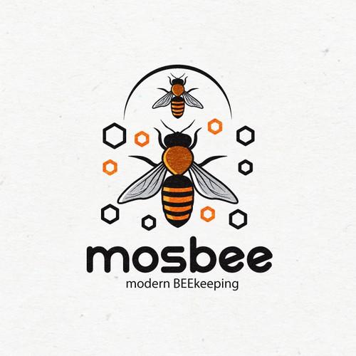 mosbee - urban beekeeping Logo