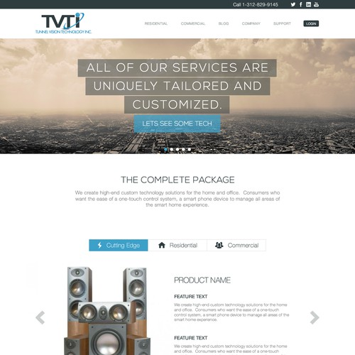 TVTI, a Smart Home Automation Company wants Sleek, Modern, Sophisticated Design