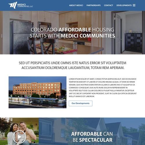 Homepage Redesign for Award Winning Housing Developer