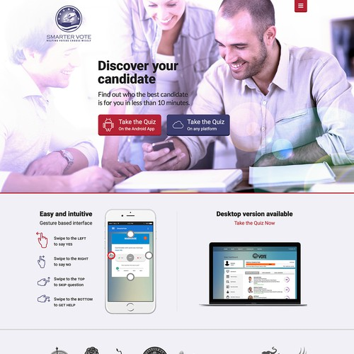 Politic Application Landing Page