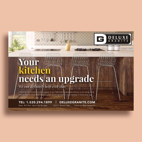 Print Advertisement for Deluxe Granite